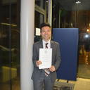 Cedric Tan with his MPLS Public Engagement with Research award